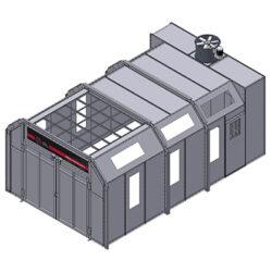 GP Semi Downdraft Non Pressurized Booth