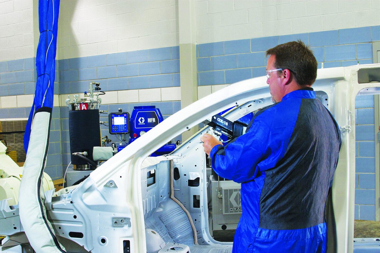 Spray equipment manual application